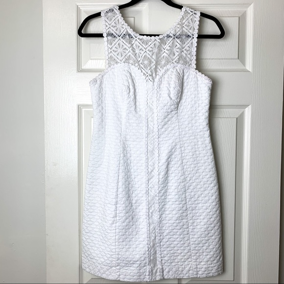 Lilly Pulitzer Dresses & Skirts - Lily Pulitzer white lace shift dress 2